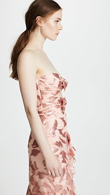 Rodarte Strapless Bustier with Bow Details