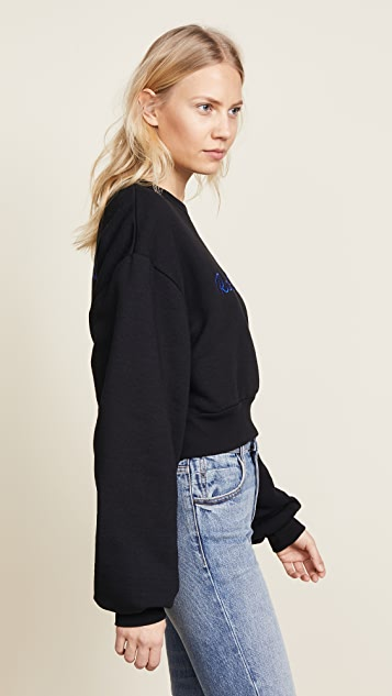 Rodarte Cropped Radarte LA Paris Sweatshirt
