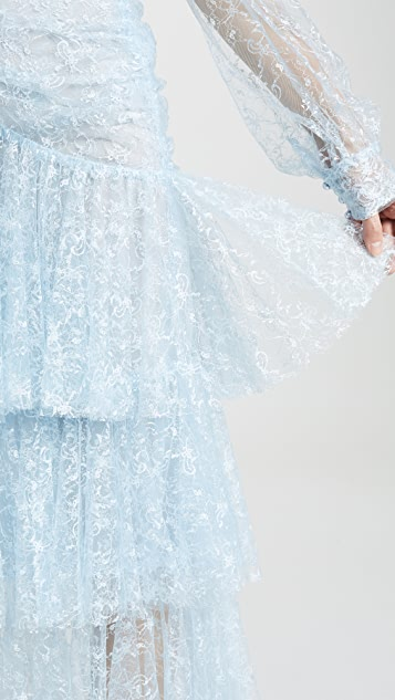 Rodarte Tiered Lace Skirt