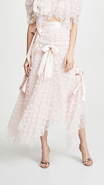 Rodarte Embroidered Bow Skirt