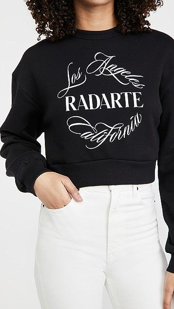 Rodarte RADARTE (RAD) Emblem Cropped Sweatshirt