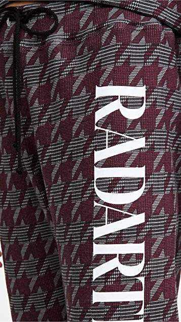 Rodarte RADARTE (RAD) 独家款人字纹印花运动裤