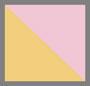 粉色/黄色