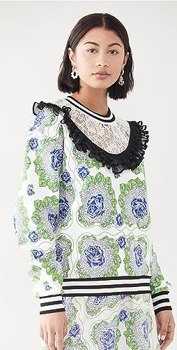 Rodarte - 花卉印花运动衫