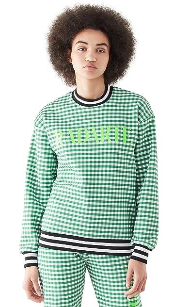 Rodarte Radarte Green Gingham Sweatshirt