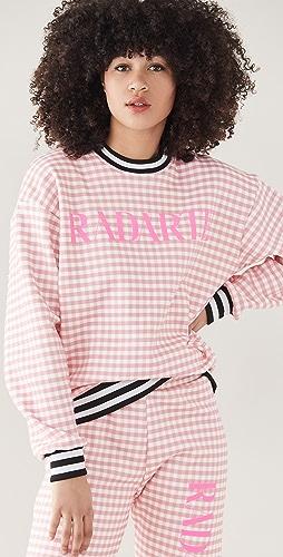 Rodarte - RADARTE (RAD) Pink Gingham Sweatshirt