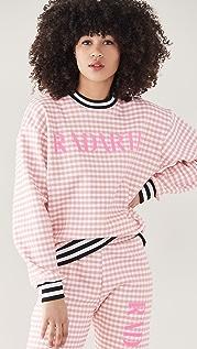 Rodarte RADARTE (RAD) Pink Gingham Sweatshirt