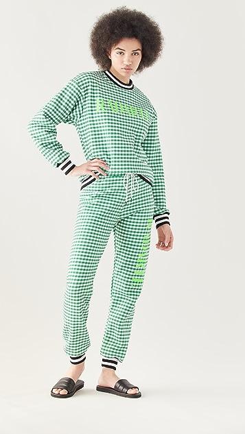 Rodarte RADARTE (RAD) 绿色格子运动裤