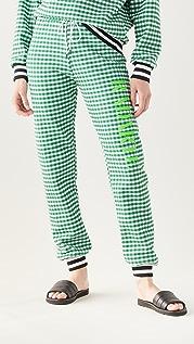 Rodarte RADARTE (RAD) Green Gingham Sweatpants