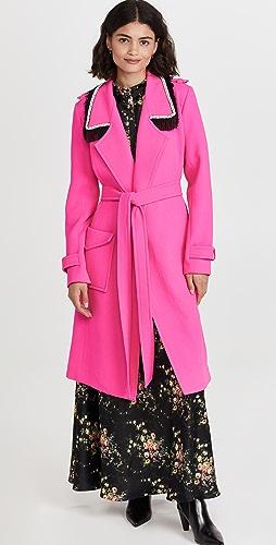 Rodarte - 荧光粉色羊毛风衣