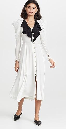 Rodarte - Silk Dress with Neck Ruffle Detail