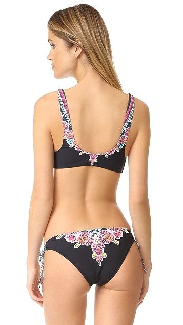 Red Carter Bohemian Breeze Lace Front Bikini Top