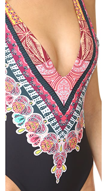 Red Carter Bohemian Breeze Reversible One Piece