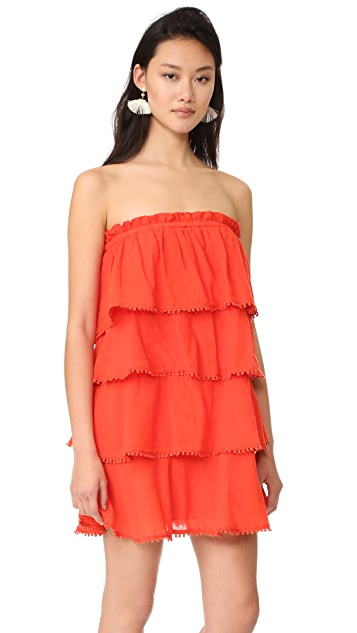 5084495c1ff Red Carter Candy Ruffle Tiered Dress ...