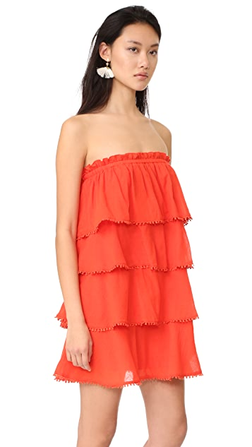 f472a8fd664 ... Red Carter Candy Ruffle Tiered Dress ...