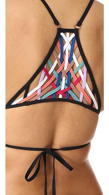 Red Carter Dream Weaver Bikini Top