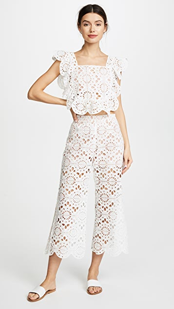 Red Carter Deck Lace Pants