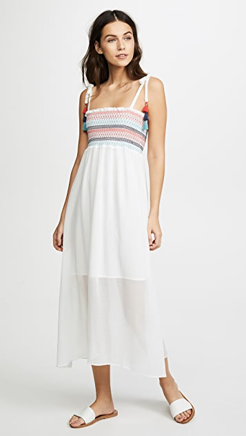 Red Carter Pippi Smocked Maxi Dress - Ivory