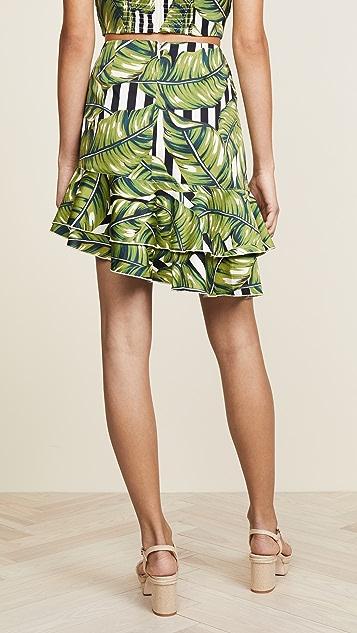 Red Carter Sabrinah Asymmetrical Skirt