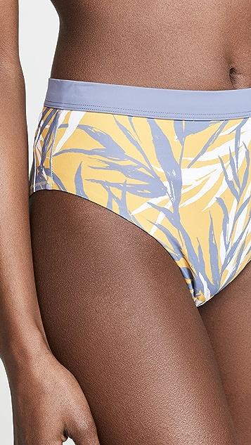 Red Carter Bamboo Bay Bikini Bottoms