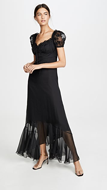 Raquel Diniz Alice Long Short Sleeve Dress