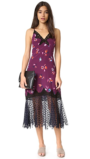 Rebecca Taylor Sleeveless Bellflower Slip Dress