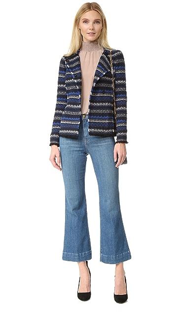 Rebecca Taylor Variegated Tweed Jacket