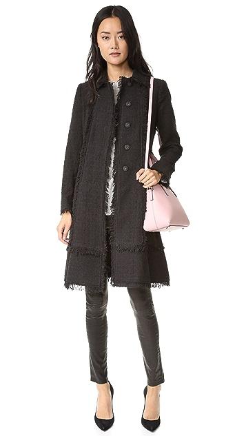 Rebecca Taylor Boucle Tweed Coat