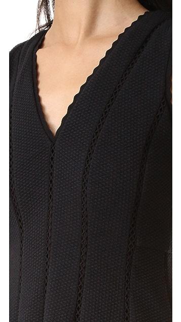 Rebecca Taylor Sleeveless Diamond Textured Dress