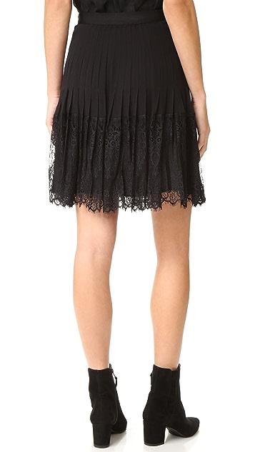 Rebecca Taylor Silk & Lace Skirt