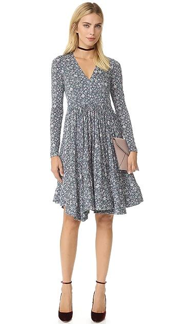Rebecca Taylor Long Sleeve Lavish Grid Dress