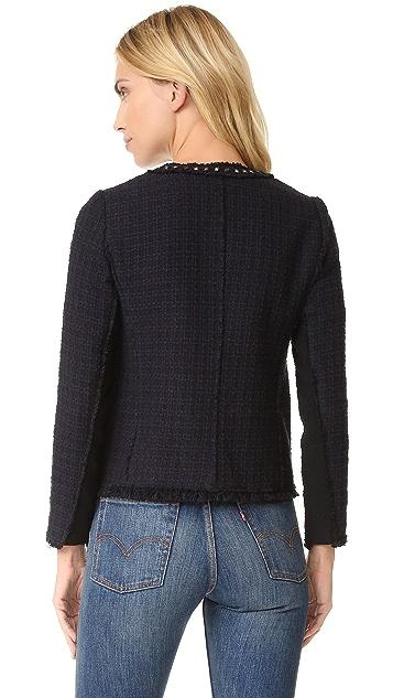 Rebecca Taylor Tweed Studded Jacket