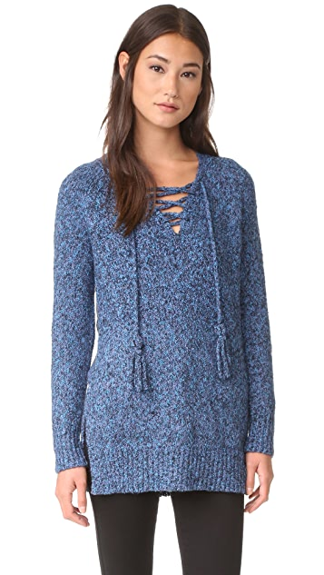 Rebecca Taylor Boucle Tweed Pullover