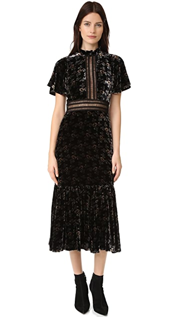 983a2f2283b8 Rebecca Taylor Shadow Floral Velvet Dress