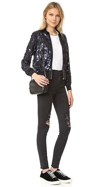 Rebecca Taylor Sequin Bomber Jacket