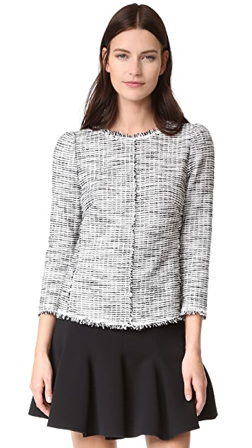 Rebecca Taylor Boucle Tweed Top