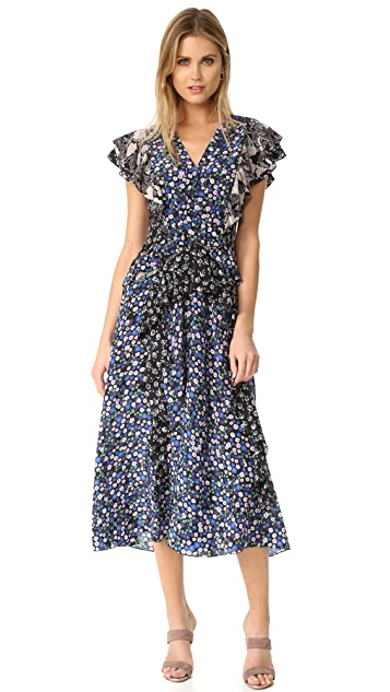 Rebecca Taylor Patch Print Dress
