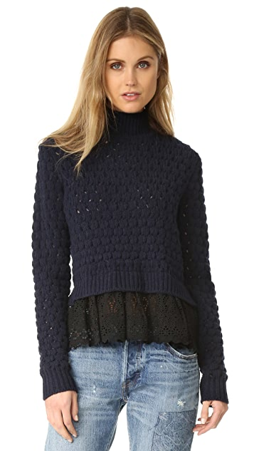 Rebecca Taylor Mock Neck Sweater