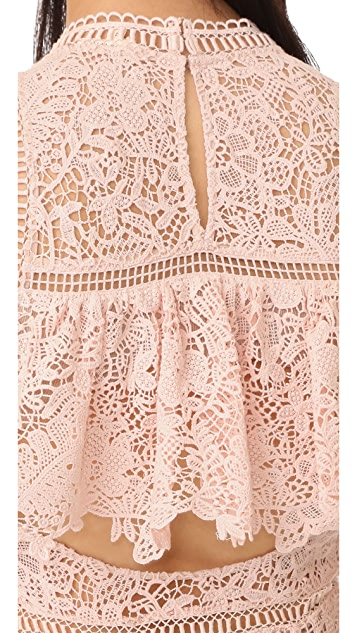 Rebecca Taylor Sleeveless Arella Midi Dress