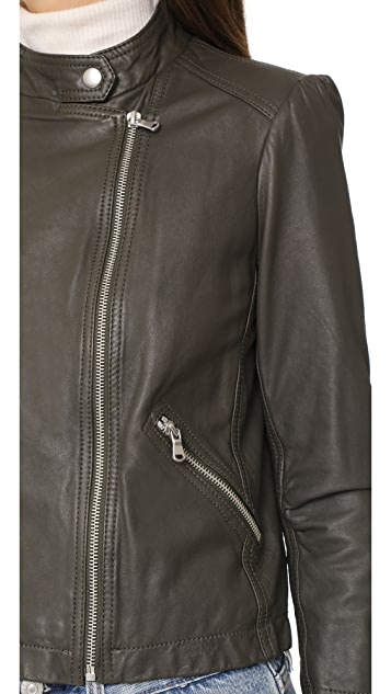 Rebecca Taylor Leather Moto Jacket