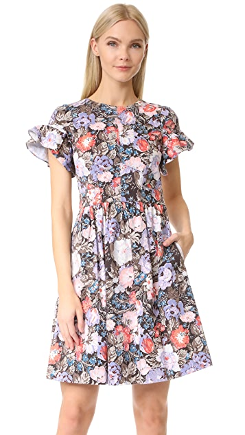 Rebecca Taylor Short Sleeve Penelope Ruffle Dress