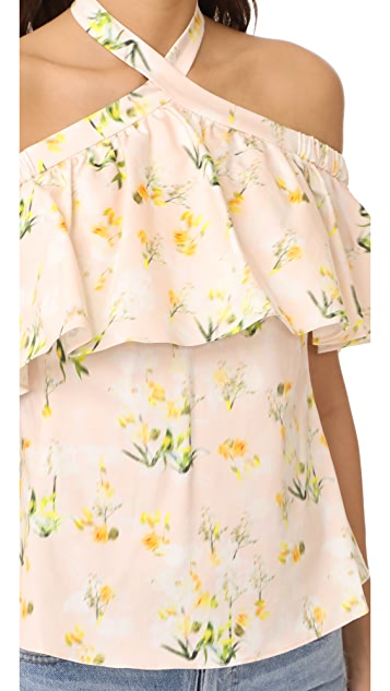 Rebecca Taylor Off Shoulder Firefly Floral Top
