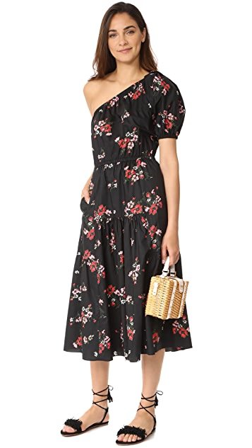 Rebecca Taylor One Shoulder Marguerite Pop Dress