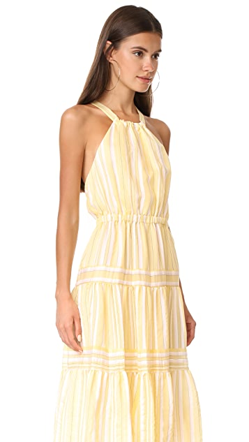Rebecca Taylor Sleeveless Yarn Dye Stripe Dress