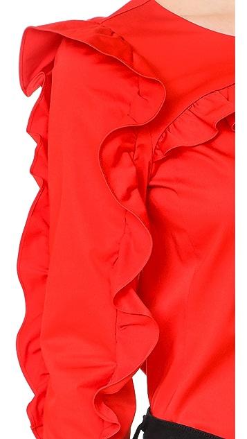 Rebecca Taylor Long Sleeve Ruffle Top