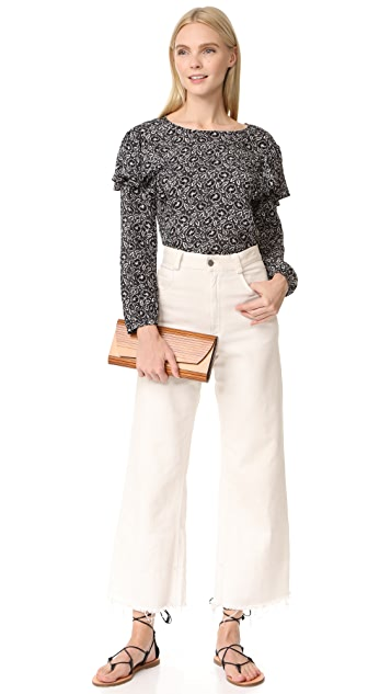 Rebecca Taylor Long Sleeve Sweet Briar Top