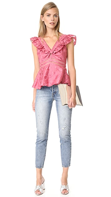 Rebecca Taylor Aly Fil Coupe Top