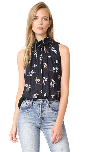 Rebecca Taylor Sleeveless Natalie Fleur Top