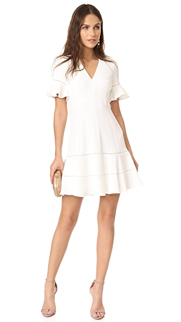Rebecca Taylor V Neck Textured Dress