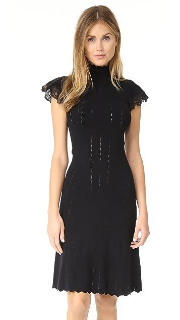 Rebecca Taylor Short Sleeve Lace Dress